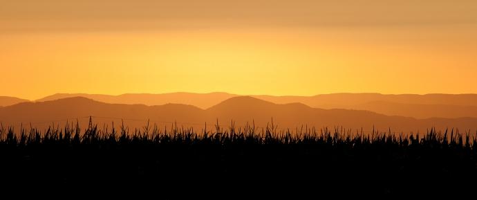 Sonnenuntergang im Markgräflerland